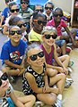 Palm Spring students show off their Pool Safely sunglasses (8597804575).jpg