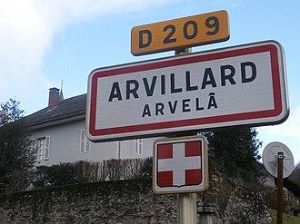Arvillard - A road sign in Arvillard
