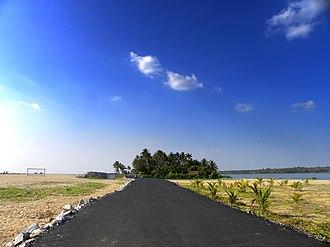 Kollam-Paravur Coastal Road - Kollam-Paravur Coastal Road near Kollam Beach
