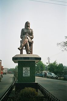 A statue of Parijat near 2.5 Mile Check Post, Siliguri, West Bengal, India