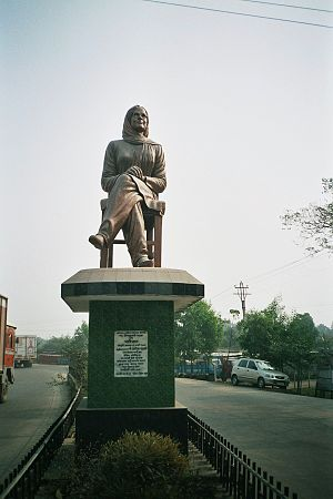 Nepali literature - A statue of Nepali writer Parijat