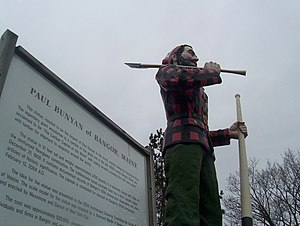 Bangor Auditorium - The Paul Bunyan statue