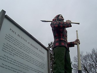 Trees of Mystery - The Paul Bunyan statue in Bangor, Maine.