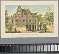 Paviljoen van de koning op de Wereldtentoonstelling in Amsterdam, 1883 Paviljoen van Z.M. den Koning (titel op object) Herinnering aan Amsterdam in 1883 (serietitel op object), RP-P-OB-89.751-9.jpg