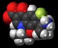 Pazufloxacin zwitterion spacefill.png