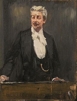 Peder Severin Krøyer - Portrait of Georg Brandes lecturing - Google Art Project