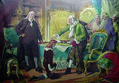 Voltaire blessing Franklin's grandson, in the name of God and Liberty, by Pedro Americo, 1889-90 Pedro Americo - Voltaire abencoando o neto de Franklin em nome de Deus e da Liberdade.jpg