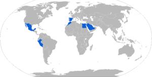 Pegaso BMR - Map of Pegaso BMR operators in blue