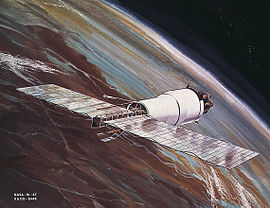 A Pegasus satellite in orbit