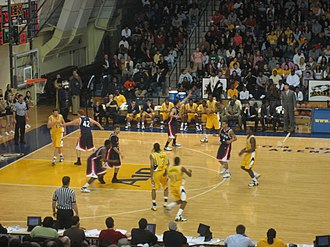 Tom Gola Arena at La Salle University. Constructed in 1998. Penn La Salle Basketball.JPG