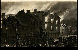 Pennsylvania Hall (Philadelphia) - Pennsylvania Hall burning