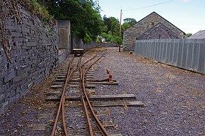 Penrhyn Quarry Railway - Restored railway track, 2015
