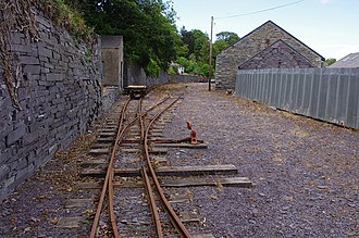 Penrhyn Quarry Railway - Restored railway track, 2015