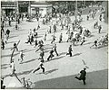 People running, The Central Station in Aarhus. 26th August 1943 (WW2) (9265551861).jpg