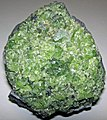 Peridotite mantle xenolith in vesicular phonotephrite (Peridot Mesa Flow, Middle Pleistocene, 580 ka; Peridot Mesa, San Carlos Volcanic Field, Arizona) 2 (15428089790).jpg