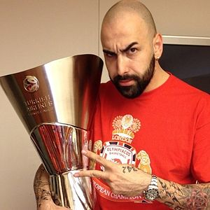 Pero Antić - Antić with the EuroLeague championship trophy.