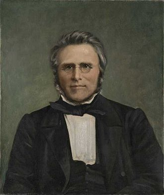 Peter Severin Steenstrup - 1860 painting of Peter Severin Steenstrup, by Peter Nicolai Arbo