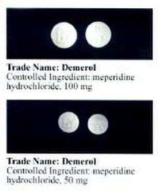 Pethidine - Image: Pethidine DOJ