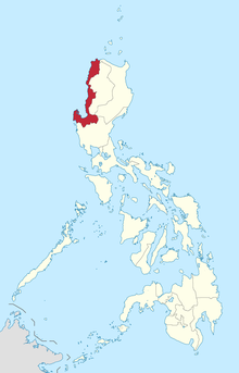 Map of the Philippines highlighting the Ilocos Region