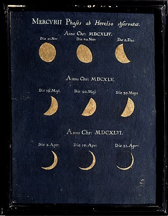 Maria Clara Eimmart - Image: Phase of Mercury Observed by Johannes Hevelius