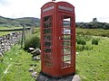 Phone box on the A838 at Eriboll Farm - geograph.org.uk - 1389259.jpg