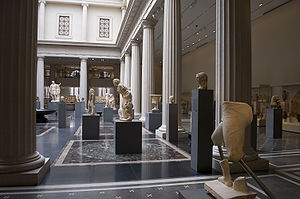A view of new Roman Gallery in the Metropolita...