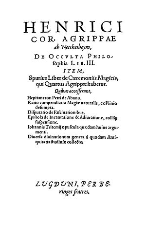 Three Books of Occult Philosophy - De Occulta Philosophia, Libri tres