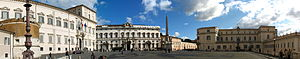 Quirinal Hill - Piazza del Quirinale panorama