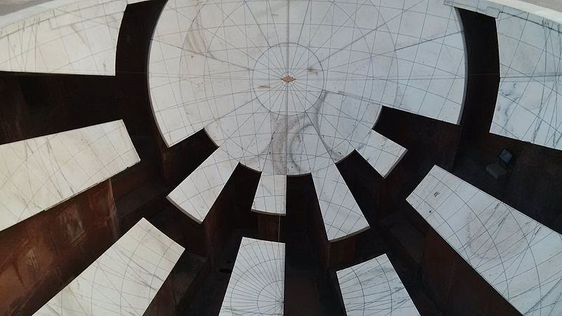 File:Picture of one of the inverted hemispherical structures at Jantar Mantar.jpg