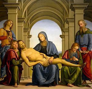 Pietà (Perugino) - Image: Pietà (Perugino)