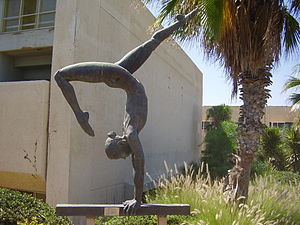 Wingate Institute - The Gymnast sculpture in Wingate Institute By Daniel Baharier