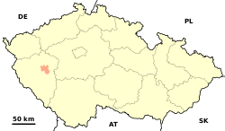 Pilsen Little District (CZE) - location map.svg