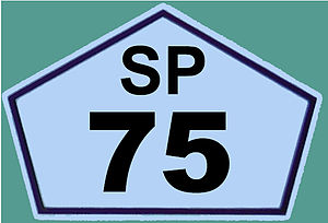 Rodovia Sen. José Ermírio de Moraes - Image: Placa da SP 75 REFON
