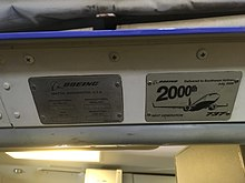 Placard above main entry door on 2000th 737 Next Gen produced.