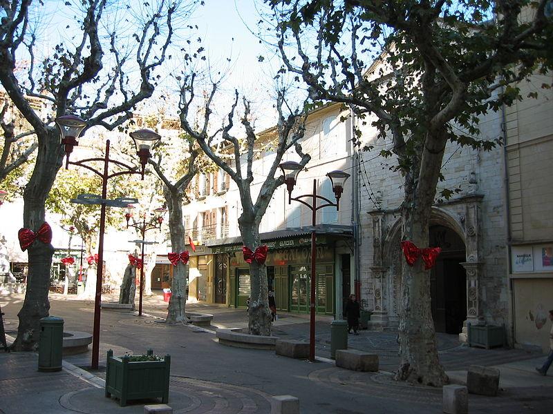 La Place de l'Hotel de Ville, Manosque, Provence, France