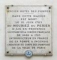 Plaque Dumouriez du Perrier, 30 rue Mazarine, Paris 6.jpg