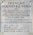 Plaque des quatre otages du 19-08-1944 au 43 Boulevard Ambroise Paré (Lyon).jpg