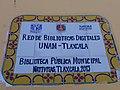 Plaque in public library of Natívitas, Tlaxcala.jpg