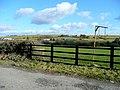 Plasnewydd sign and turbines - geograph.org.uk - 1712283.jpg