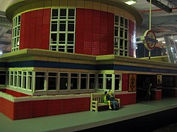 Plastic Arnos Grove Tube - Museum Depot - London Transport Museum Open Weekend March 2012 (6971238261).jpg