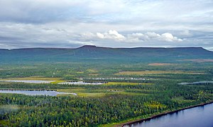 Nizhnyaya Tunguska River - The Lower Tunguska crosses the Putorana Plateau.