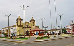 Main plaza of Moche