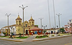 Moche, Trujillo - Main square of Moche city