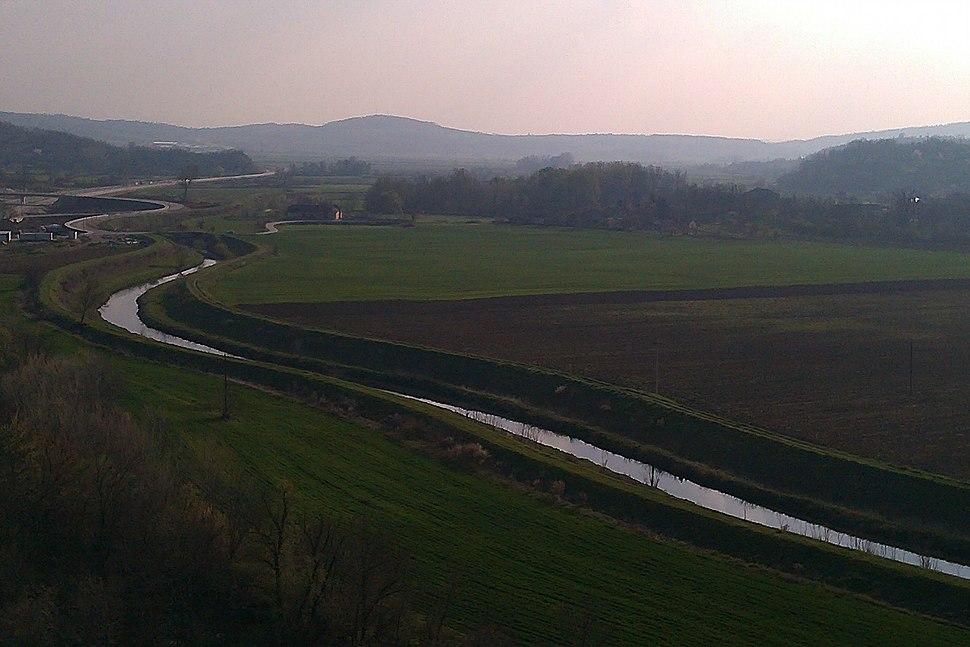 Pogled na reku Lepenicu kod Gradca
