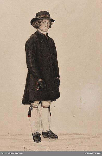 File:Pojke i Rättviksdräkt, söndagsdräkt. Akvarell av P.Södermark - Nordiska museet - NMA.0070059.jpg