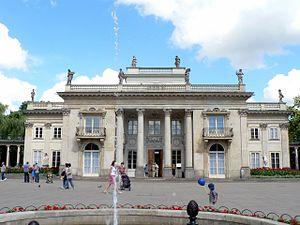 Łazienki Palace - Principal (south) façade