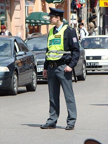 Czech Police (Policie České Republiky) officer...