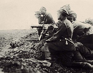 Battle of Radzymin (1920) - A Polish machine gun nest during the battle
