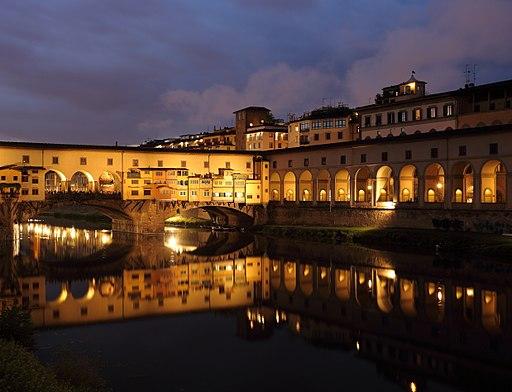 Ponte Vecchio at dusk 1