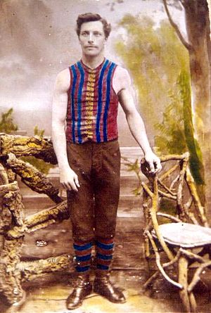 History of the Port Adelaide Football Club - Left: Harry Phillips won the club's best and fairest in 1888, 1891, 1892 and 1893. Middle: Stan Malin won the club's first Magarey Medal in 1899. Right: Striped magenta guernseys worn until dye became too costly (1883–1901).